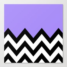 PURPLE COLORBLOCK CHEVRON Canvas Print