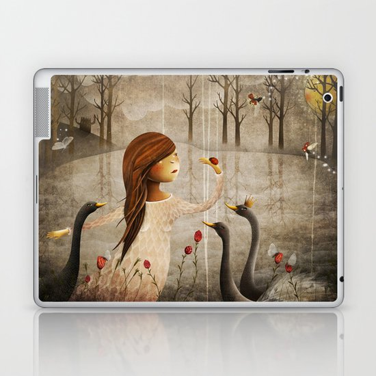 Swan Princess Laptop & iPad Skin