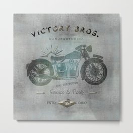 Motorbike Vintage Grunge Poster Metal Print