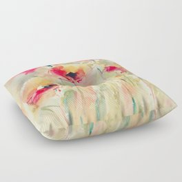 Poppies (abstract) Floor Pillow