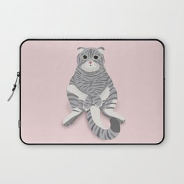 British cat digital illustration Laptop Sleeve