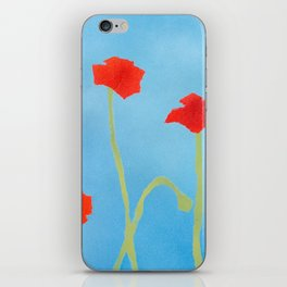 Poppies wide iPhone Skin