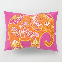 the magic elephant ... orange Pillow Sham