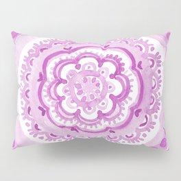 Purple Roundabout Mandala Pillow Sham