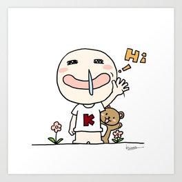 K Young-HI Art Print