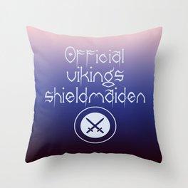 Official vikings shieldmaiden1 Throw Pillow