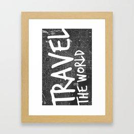 Travel The World Map Design Framed Art Print