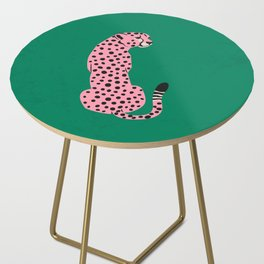 The Stare: Pink Cheetah Edition Side Table