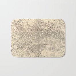 Vintage Map of Glasgow Scotland (1851) Bath Mat