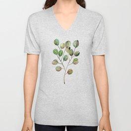 Silver Dollar Eucalyptus – Green Palette Unisex V-Neck