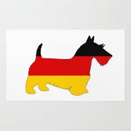 German Flag - Scottish terrier Rug