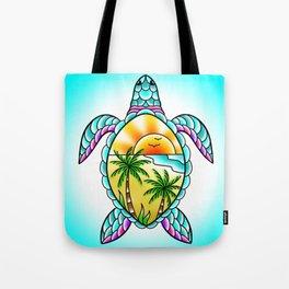 Turtle Paradise Tote Bag