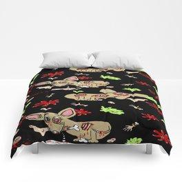 Zombie Chihuahua Comforters