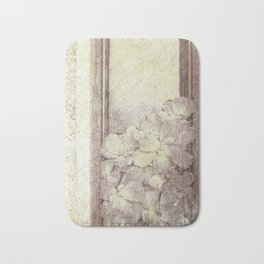 Flowers in the water Bath Mat