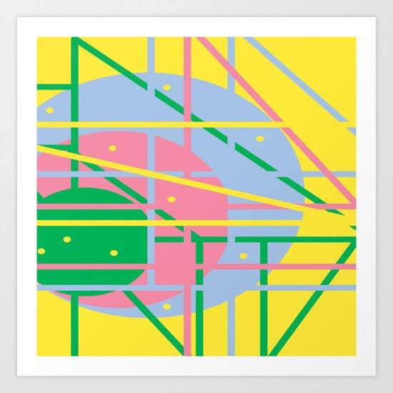 Colours Q Art Print