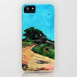 Dirt Road ( with U.F.O.) iPhone Case