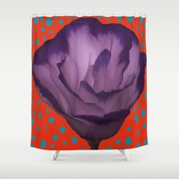 dot Shower Curtains featuring Dots dot dot dot by DesignsByMarly