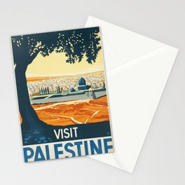Palestine Vintage Travel Poster Colorful Mid Century Art Stationery Cards