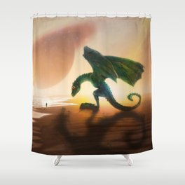 The Nasty Dragon Who Became a Nice Puppy by GEN Z Shower Curtain