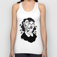 agnes Tank Tops featuring Europa, Agnes and Phyllis by Anna Lisa Illustration