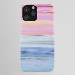 Pastel Ocean Sunset Abstract iPhone Case
