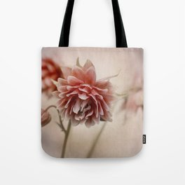 Dark red columbine flowers Tote Bag