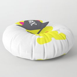 One Tooth Rabbit Pirate Privateer Captain Floor Pillow
