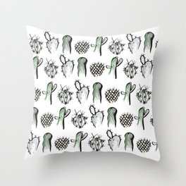 Cactus Family Throw Pillow