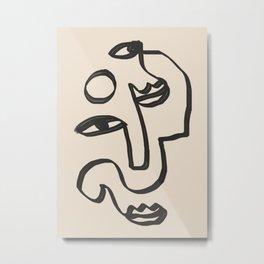 Minimal Abstract Art 37 Metal Print