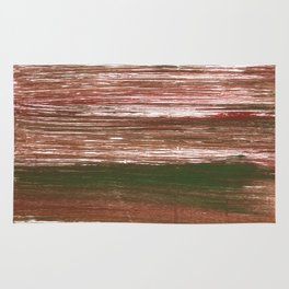 Van Dyke Brown abstract watercolor Rug