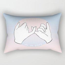 till death do us part Rectangular Pillow