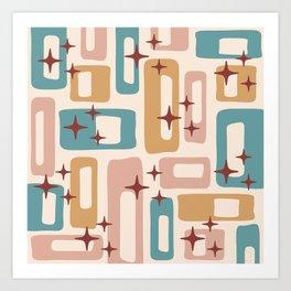 Retro Mid Century Modern Abstract Pattern 122 Art Print