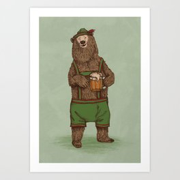 Traditional German Bear Art Print