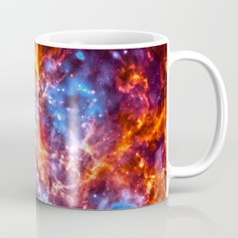 Colorful Cosmos - Red and Blue Coffee Mug