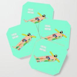 Local Native - Music Inspired Fan Cliche Digital Art Coaster