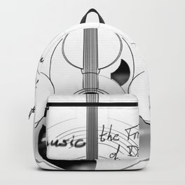 The acoustic guitar - Music, The Frontier of Dreams. Backpack