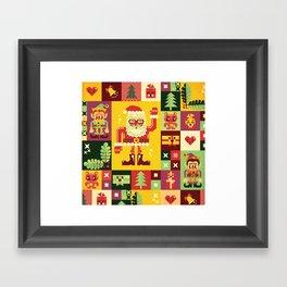Christmas Geometric Pattern No. 1 Framed Art Print