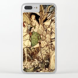 Arthur Rackham - Fouqué - Undine (1909) - I am here with Thee as a Guide Clear iPhone Case