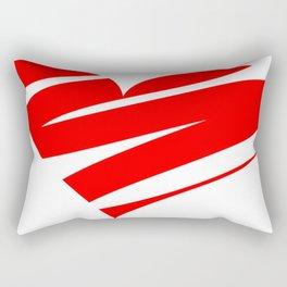 Stylized Heart Rectangular Pillow