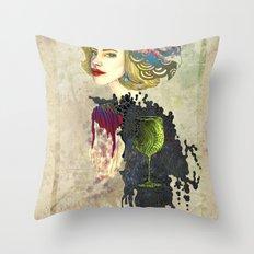 retro woman Throw Pillow