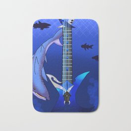 Keyblade Guitar #25 - Abyssal Tide Bath Mat