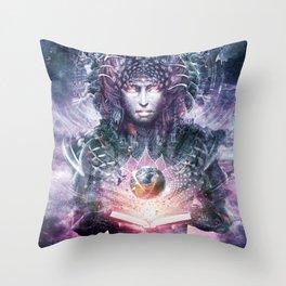 Ocean Atlas Throw Pillow