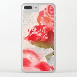 Watercolor Rosettes Clear iPhone Case