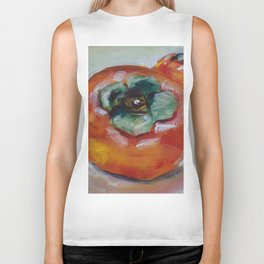 Food, fruit, persimmon, sweet, taste Biker Tank