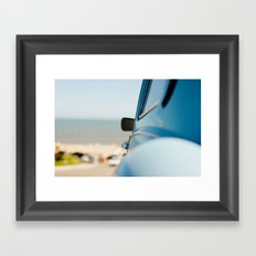 The blue car Framed Art Print