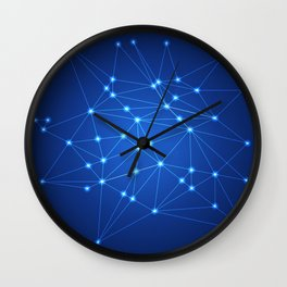 Network. Connection concept. Wall Clock