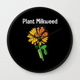 Monarch Butterfly Plant Milkweed Wall Clock