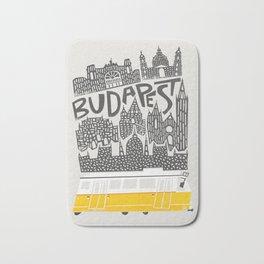 Budapest Cityscape Bath Mat