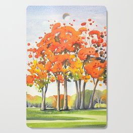 Trees Crowned in Autumn Glory Cutting Board