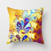 fireworks Throw Pillows featuring Fireworks by LLMD